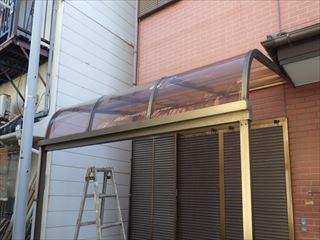 テラス屋根のアクリル板