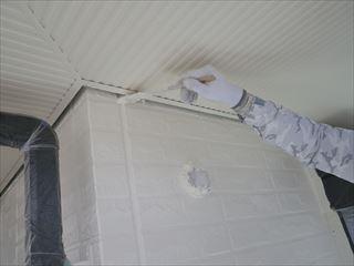 2階外壁上塗り刷毛