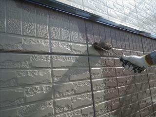 1階外壁中塗り