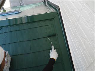 下屋の上塗り2回目