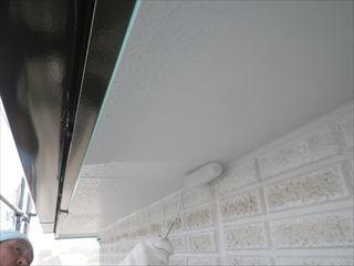 西面外壁上塗り2回目