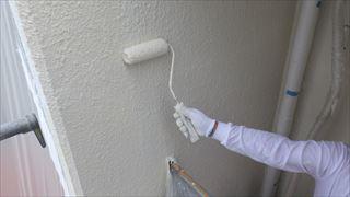 西面外壁ガイナ上塗り2回目
