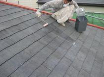 屋根シーラー塗り