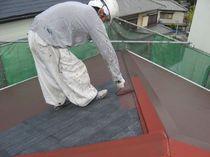 屋根上塗り1回目2