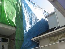 屋根高圧洗浄用シートかけ1