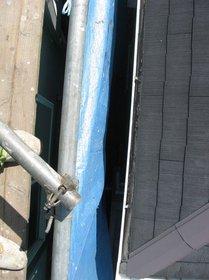 屋根高圧洗浄用シートかけ2